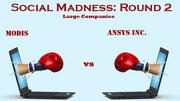 Modis currently leads Ansys Inc. 1,228-890.