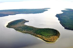 Hog Island, with Lake George to the south.
