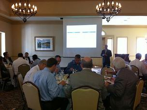 John Silvia, the chief economist at Wells Fargo Securities LLC, spoke to the CFA Society of Jacksonville Jan. 16.
