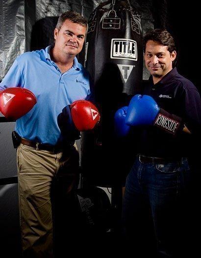 Ronnie Leinwohl, left, and Edmundo Gonzalez, owners of Urban Partners Construction LLC.