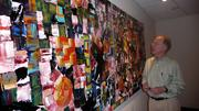 Developer Jack Allen plans to loan this abstract painting for display at the Tiger Academy in Northwest Jacksonville.