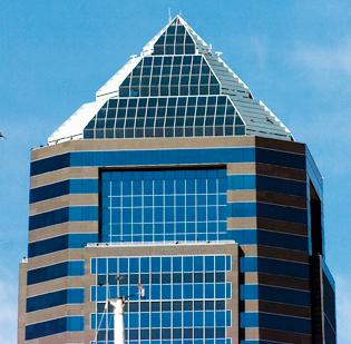 The Bank of America Tower in Downtown Jacksonville.