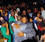 Alvin Brown on his election night.