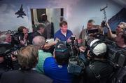 NFL Commissioner Roger Goodell speaks to reporters.