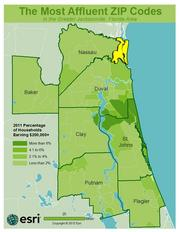 No. 8 -ZIP: 32034County: Nassau2011 Total Households: 13,419Percent Households Earning $200,000+: 5.53%Median Age: 49.5