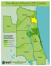 No. 21 -ZIP: 32226County: Duval2011 Total Households: 5,814Percent Households Earning $200,000+: 2.43%Median Age: 37.4