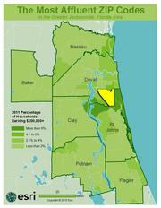 No. 3 -ZIP: 32256County: Duval2011 Total Households: 18,516Percent Households Earning $200,000+: 8.21%Median Age: 33