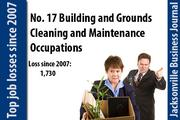 In 2007 there were 20,110 Building and Grounds Cleaning and Maintenance Occupations. In 2011 there were 18,380.