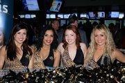 The Roar cheerleaders at their table.