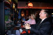 Party goers enjoyed the racing games at Latitude 30.
