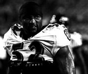 Baltimore Ravens linebacker Ray Lewis. The underdog Jaguars defeated the Ravens on Monday Night Football this year.