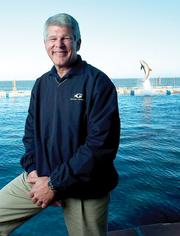 Georgia Aquarium President and COO David Kimmel photographed at Marineland in January 2011.