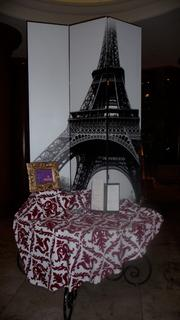 """This display in the lobby at the Omni Jacksonville Hotel in Downtown Jacksonville draws attention to the hotel's """"Flavors of France"""" promotion."""