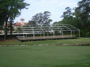 A corporate chalet is under construction at TPC Sawgrass.