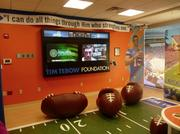 The Timmy Tebow Playroom, made possible through a partnership with the Tim Tebow Foundation, is a play area for children receiving care at the tower.