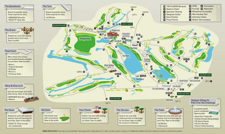 A map of the course for the 2012 The Players Championship, which will be held May 7-13 at TPC Sawgrass in Ponte Vedra Beach.