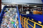 The facility will process 25 tons of recyclables per hour.