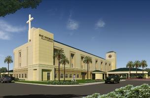 A rendering of St. Vincent's Clay County hospital. It is currently under construction and the first phase is expected to be finished in October 2013.
