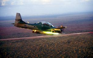 Embraer's Super Tucano is being marketed to the U.S. military as a low-cost fighter effective against insurgencies in remote areas.