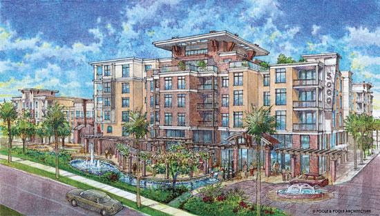 An artist's rendering of 5000 Town, which is scheduled to be ready for its first tenants in November this year.