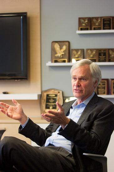 U.S. Rep. Ander Crenshaw, R-Jacksonville, spoke with reporters at the Jacksonville Business Journal office July 13.