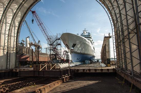 BAE Systems is known for restoring and doing routine maintenance on all manner of seacraft, including luxury yachts, at its shipyard in Jacksonville.