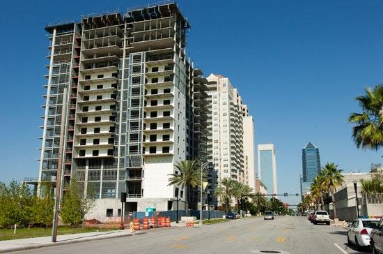 The uncompleted Berkman Plaza II condo was abandoned after the recession wiped out the real estate market.