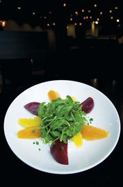 Beet and arugula salad.