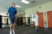 """The CSI Cos.' motto is """"work hard, play hard."""" The company offers an on-site 2,000-square-foot gym with a martial arts octagon."""