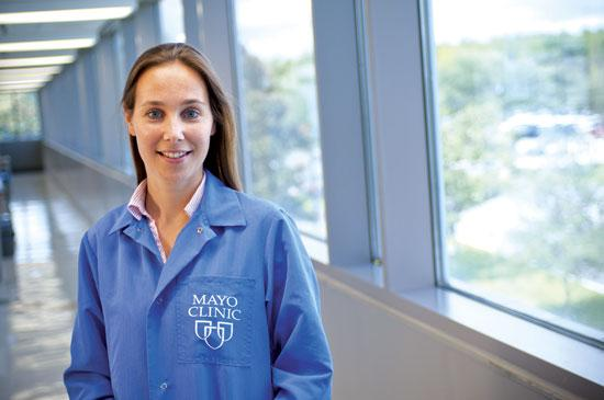 Dr. Rosa Rademakers, a neurogeneticist at Mayo Clinic Florida, led a research study that identified a DNA mutation responsible for frontotemporal dementia and amyotrophic lateral sclerosis, also known as Lou Gehrig's disease.