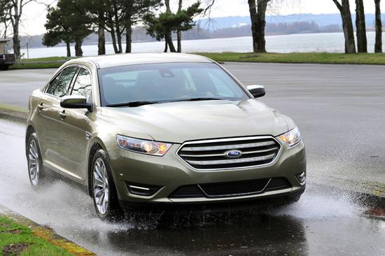 Ford Taurus Full-size sedan Base price: $27,395 MPG range: 19/29, front-wheel-drive V-6; 18/26, AWD; 22/32, 4-cylinder EcoBoost National Highway Traffic Safety Administration: 5 of 5 stars for front impact; 5 for side crash; 4 for rollover resistance; www.safercar.govWeb: www.ford.com Competitors: Buick LaCrosse, Chevrolet Impala, Chrysler 300, Dodge Charger, Honda Accord, Hyundai Azera and Genesis, Mazda6, Nissan Maxima, Toyota Avalon Bottom line: Roomy, handsome sedan that turns heads