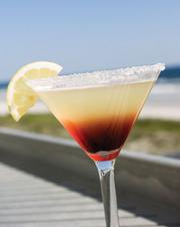 Raspberry lemonade martini