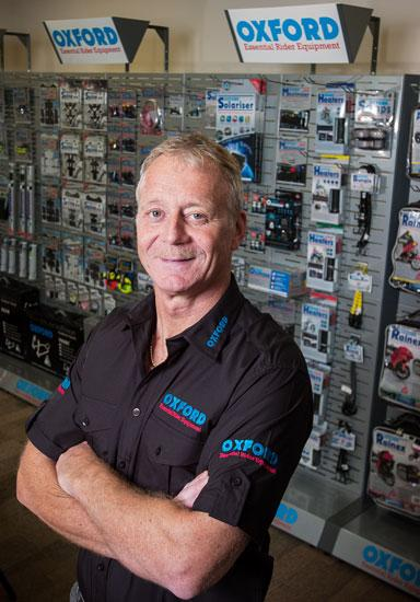 Eric McFarlane, general manager of Oxford Products USA Inc., helped open the British motorcycle equipment distributor facility in Jacksonville in November. He said having a location in the U.S. allows the company to better understand the market.