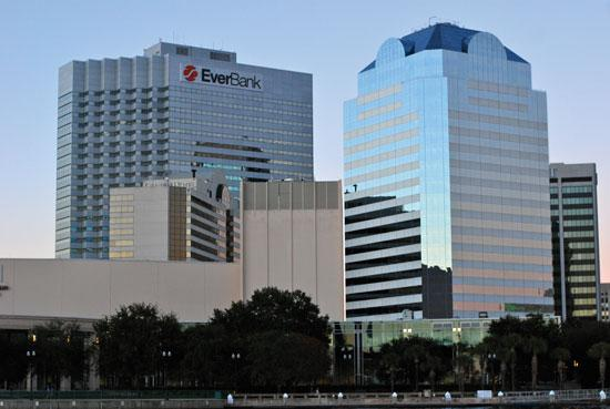 Green Tree will take over three floors in the EverBank Center in Downtown Jacksonville.