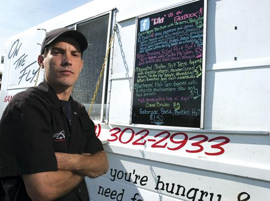 Chef Andrew Ferenc of On The Fly is one of eight food truck vendors who are rallying March 31 to gain support for changes in city regulations.