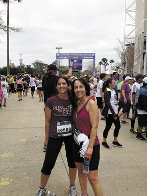 Angela Lee, lead project manager, and Ann Sabbag, president of Health Designs Inc. competed in this year's Gate River Run.