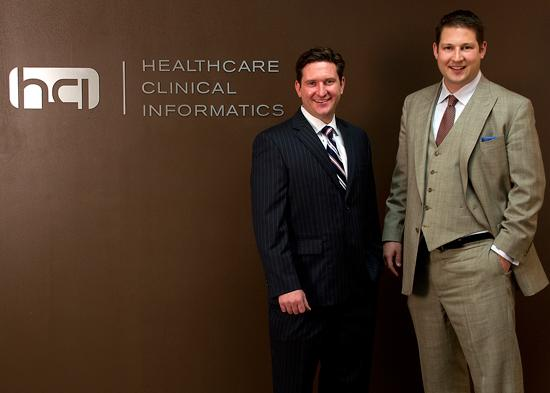 Greg Jones, left, and Ricky Caplin are the founders of Healthcare Clinical Informatics.