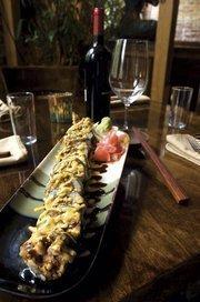 Indochine's spider roll sushi.