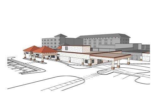 Artist rendering of Orange Park Medical Center trauma center now under construction.