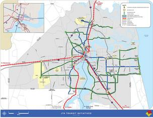 This map from the Jacksonville Transportation Authority shows the potential for Jacksonville's logistics and transportation future in 30 years.