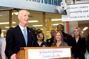 Gov. Rick Scott said at a Jan. 9 press conference at Vistakon Lens Care headquarters that he would push for legislation to completely eliminate sales tax on new manufacturing equipment.