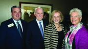 From left: Steve Halverson, Joe Thompson, Carol Thompson and Susan Ryzewic at the Jan. 8 World Affairs Council luncheon at The River Club.
