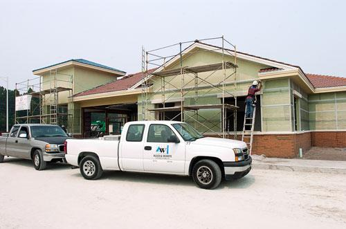 Auld & White is building a new bank at the corner of Beach and Kernan boulevards.