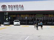 Sales at Arlington Toyota on Atlantic Boulevard have remained steady despite rising gas prices.