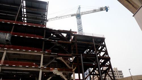 The new tower under construction at Baptist Health Downtown represents one of the region's targeted industries — health care — according to a JCCI study.