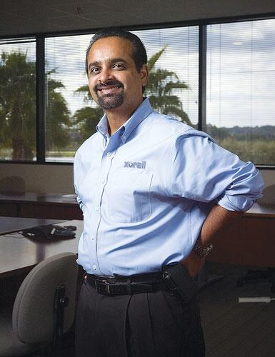 Kash Krishnarao is general manager of Xorail Inc., which recently expanded its office space in Jacksonville.