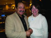Hector Cisneros, social media director at W Squared Media Group, and Judy Gile, business development executive at the Jacksonville Business Journal networked at Working the Web to Win, a new networking group that launched Jan. 8 at the Sheraton on Deerwood Park Boulevard.