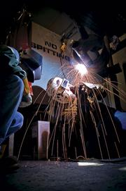 Tulsa Welding School students in training.  Skilled workers are in demand.