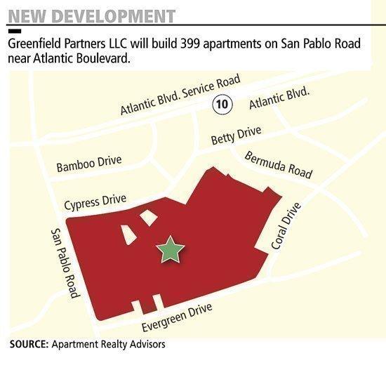 TriBridge Residential of Atlanta will build a 396-unit apartment on near San Pablo Road.