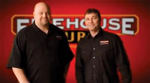 Firehouse Subs founders Robin and Chris Sorensen in one of the TV commercials.